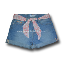 100% Cotton Denim Kid Girls' Denim Shorts
